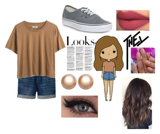 """""""Alex"""" by mfrias02 on Polyvore featuring Uniqlo, Madewell, Vans, xO Design, Amour de Pearl and H&M"""