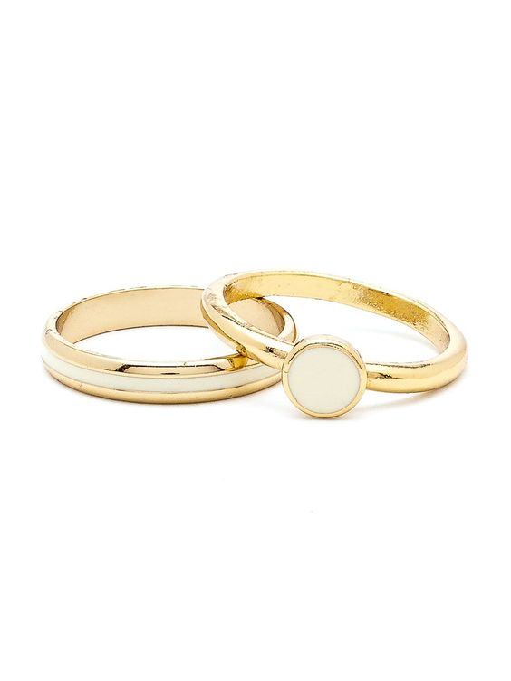 Creme Stacking Two Ring Set. #AmericanApparel