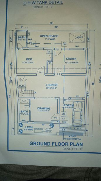 30x45 House Plan House 30x45 Design Architecture Ground Floor Home Map Design House Map Model House Plan