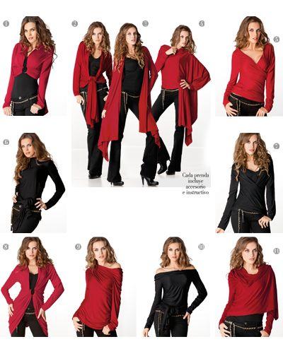 Blusa Chic Ways Tania 9106 Prenda Multiuso confeccionada en viscosa, con más de 20 formas para usar, para que la luzcas como más te agrade. CH,MED,GDE,XG Precio $ 379.00 no incluye envio