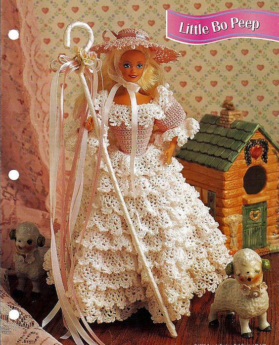Little Bo Peep Crochet Pattern Annies Fashion Doll Crochet Club FCC12 ...