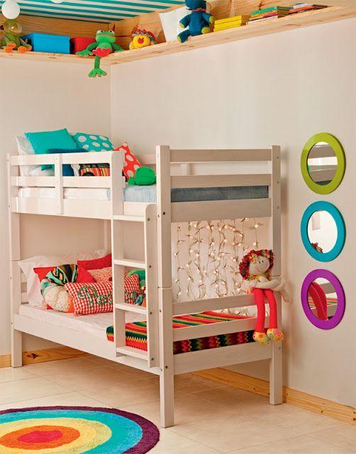 Dormitorio peque o para ni o y ni a cuarto para ni os for Cuartos para nina y nino
