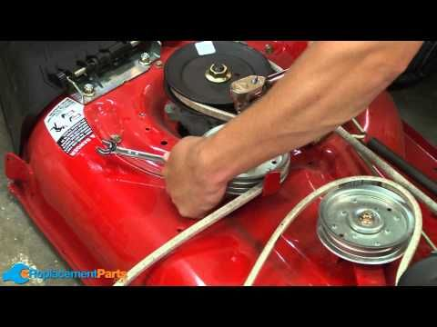 How To Replace The Blade Belt On A Troy Bilt Pony Lawn Tractor Part 954 04060b Youtube Lawn Tractor Tractors Troy