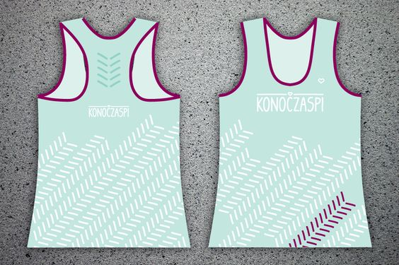 """Women's sports KONOCZASPI tank tops without illustration. MINT turquoise with pattern """"up""""."""