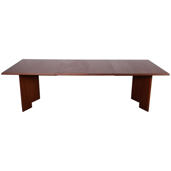 Taliesin Dining Table by Frank Lloyd Wright | From a unique collection of…