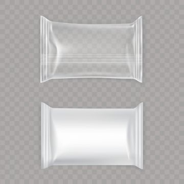 Plastic Package Packet Candy Bag Pack Mockup Illustration Cookie Transparent Paper Pouch Isolated Cle Plastic Texture Plastic Bag Packaging Free Graphic Design