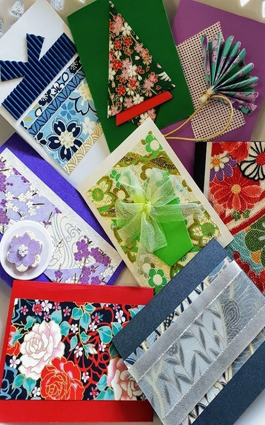 Using Beautiful Japanese Papers And Ribbons To Make Cards Japan
