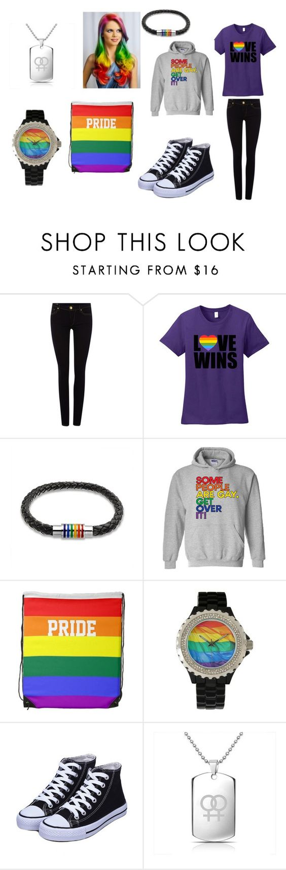 """""""MY BI PRIDE IS REAL RIGHT NOW"""" by momo-diomands on Polyvore featuring True Religion, Bling Jewelry, women's clothing, women, female, woman, misses and juniors"""