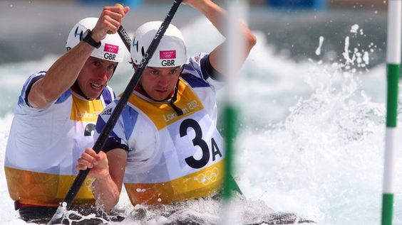 Great Britain's Tim Baille and Etienne Stott - Great Britain have taken gold and silver in the canoe slalom C2 event.  Tim Baillie and Etienne Stott claimed Britain's first ever gold in the event, with David Florence and Richard Hounslow taking silver.  The British crews were the only pairs not to pick up penalties on their runs to complete Britain's most successful day in the history of the sport.