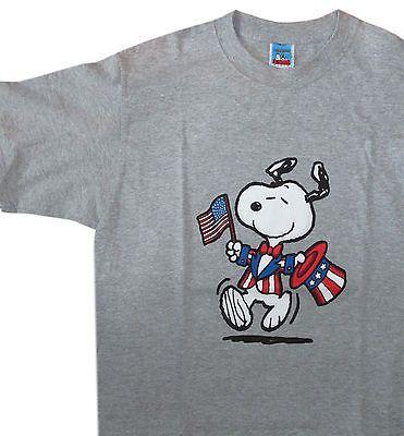 Snoopy Uncle Sam Flag Stars & Stripes T-shirt M -  New