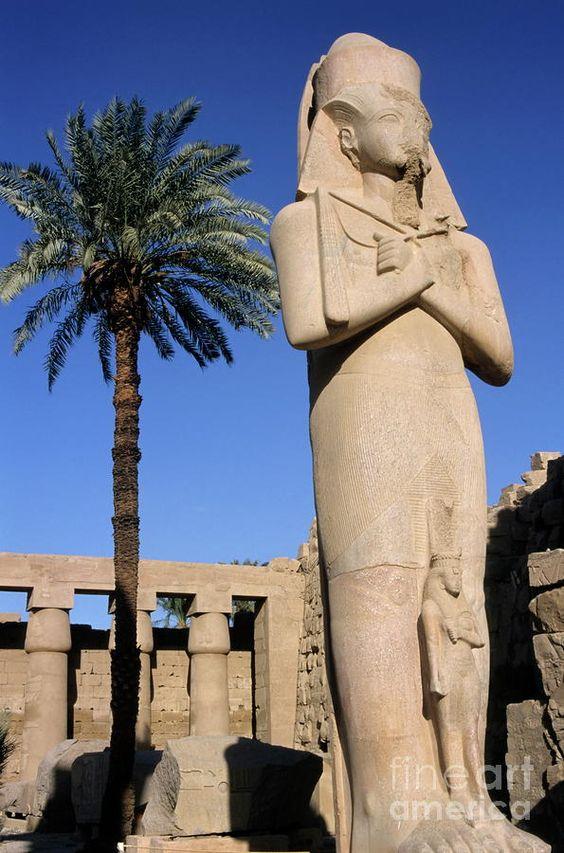 Statue of Ramses at Karnak Temple, Luxor, Egypt
