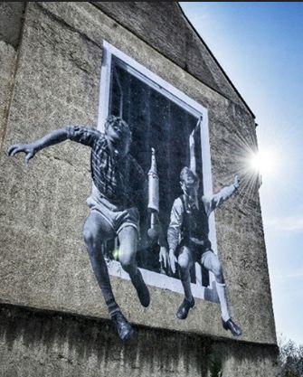 by JR #streetart