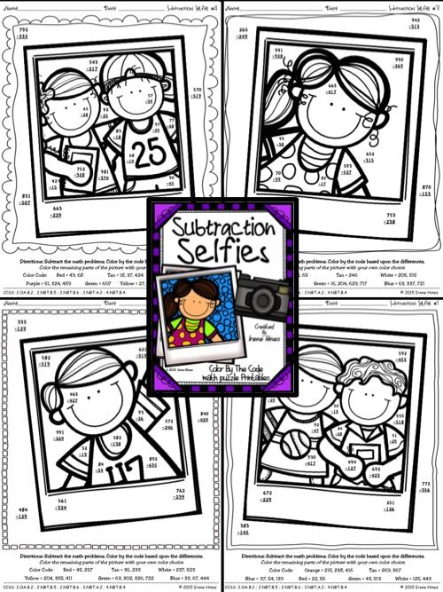 Common Worksheets » 3 Digit Subtraction With Regrouping Coloring ...