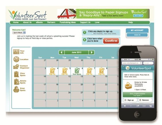 VolunteerSpot makes it easy to organize teachers, parents and ...
