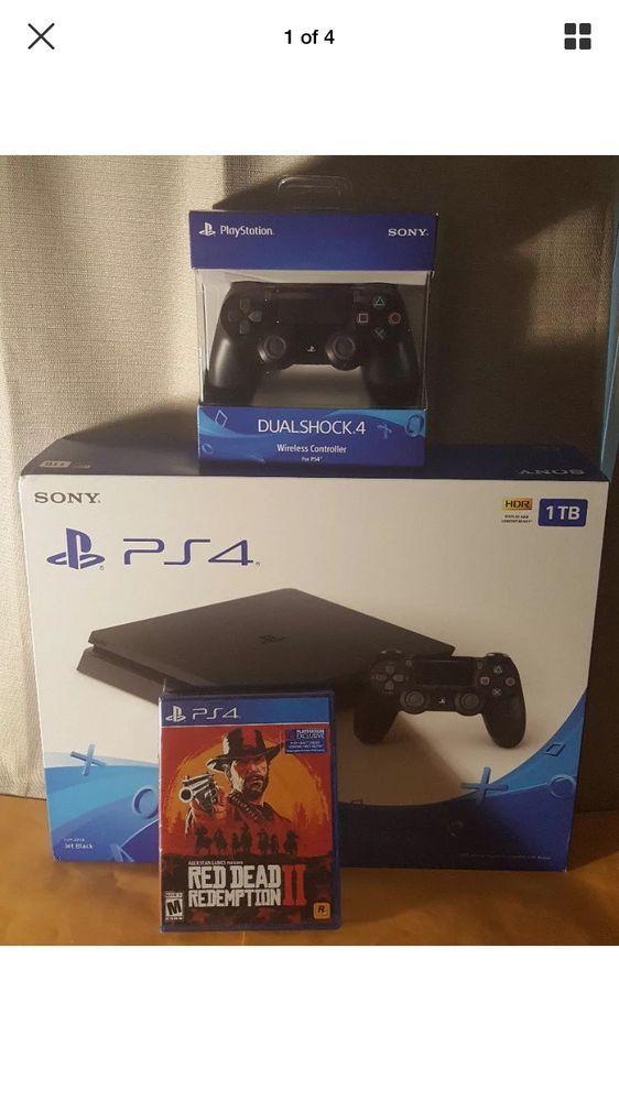 Playstation 4 1tb Slim Ps4 Bundle Red Dead Redemption 2 Controllers New Ps4 Bundles Red Dead Redemption Playstation 4