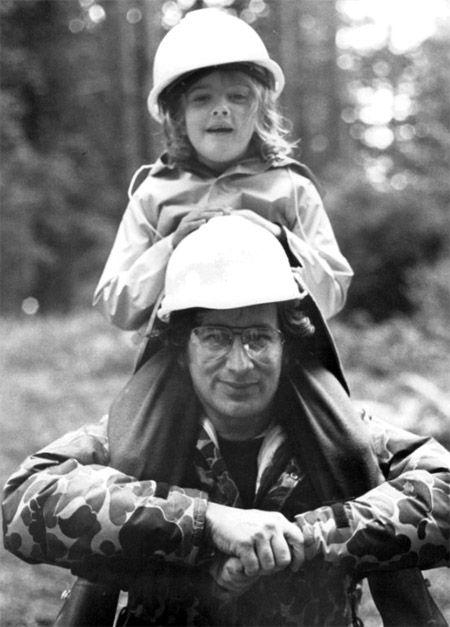 Drew Barrymore et Steven Spielberg