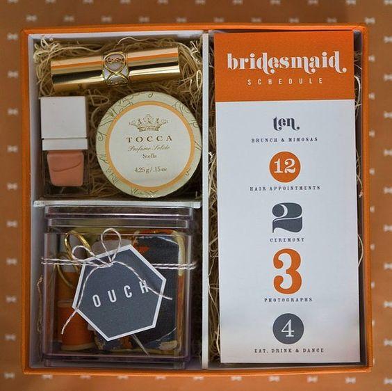Bridesmaid gift idea & schedule!