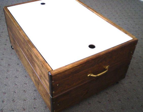 12 Inch High  Rolling Drawer  Storage Box  Walnut  by Odyssey359, $179.00