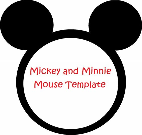 Minnie Mouse Cut Outs Printable | Minnie Mouse Invitation Template
