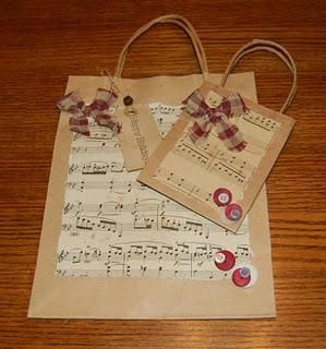 Christmas decorations & gift bags
