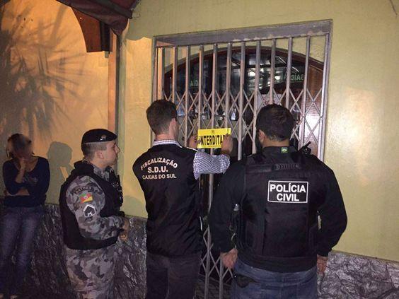 09/03/2016 - Operação Casas Noturnas da Fiscalização de Caxias do Sul, RS: