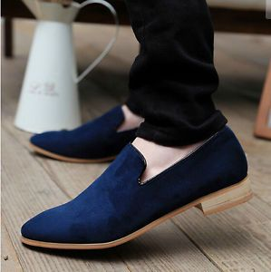 Plus Size 2015 New Fashion Suede Genuine Leather Flat Men Casual ...