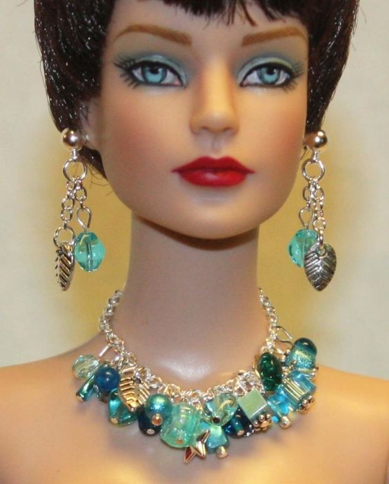 """Iced Blues"" Jewelry Set for Tonner Tyler Cami Ellowyne Dee Anna Gene Sybarite"