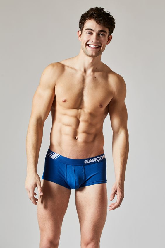 Good morning!  courtesy of @travislanephoto with model @garrettwestton sporting his blue Elite trunks