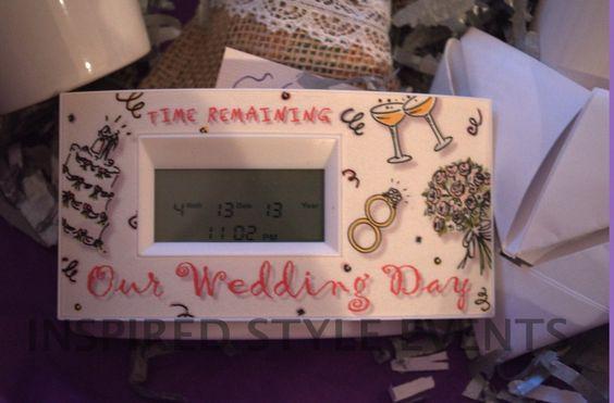 Wedding Day Countdown Clock Engagementgift