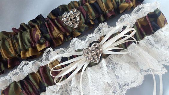 Heart Hunting Bride Lace Wedding Garter Set for Brides by Allofyou