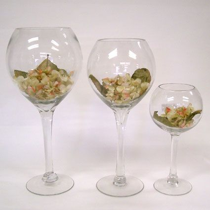 Wine vase search results vases glasses and wine glass for Wine glass decorations for weddings