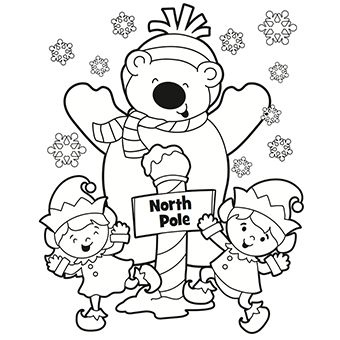 Coloring pages Coloring and North pole on Pinterest
