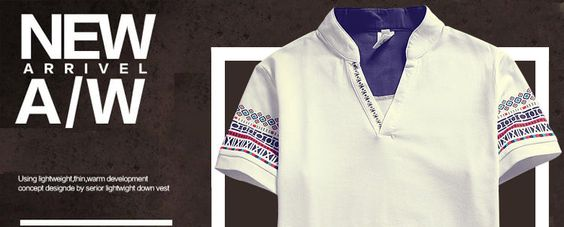 Prep Soul Patterned Sleeve V-Neck Short Sleeve T-Shirt | YESSTYLE
