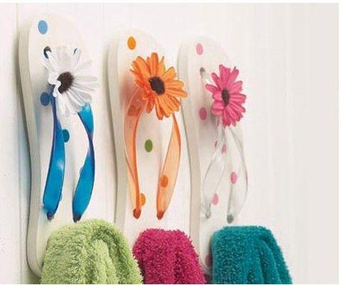 Flip flop hooks, too cute!