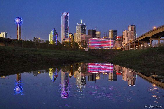 Dallas Christmas Skyline 2014