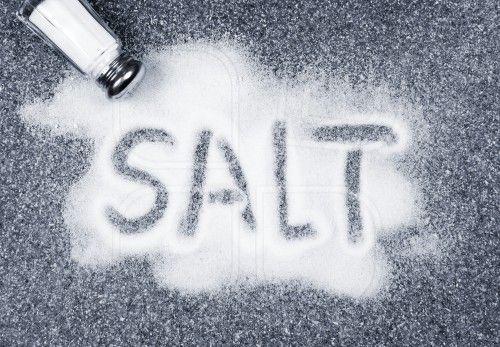 Sal derramada de agitador