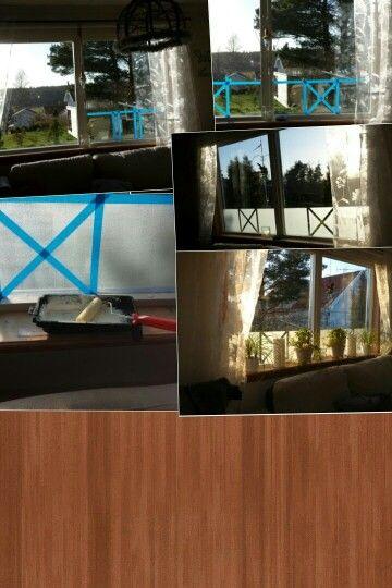 Frosta fönster med filmjölk   Evas skapande   Pinterest