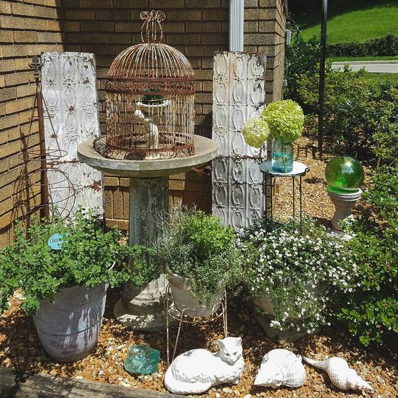 Follow The Yellow Brick Home Cute Vintage Junk Garden