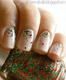 Glitter and Nails: Essie Waltz + China Glaze Party Hearty : paillettes + Noël + dégradé = Youhouuu