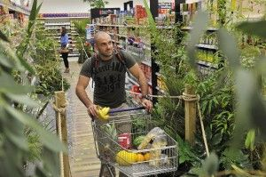 Tesco Together For Trees - Ed Stafford in the rainforest aisle