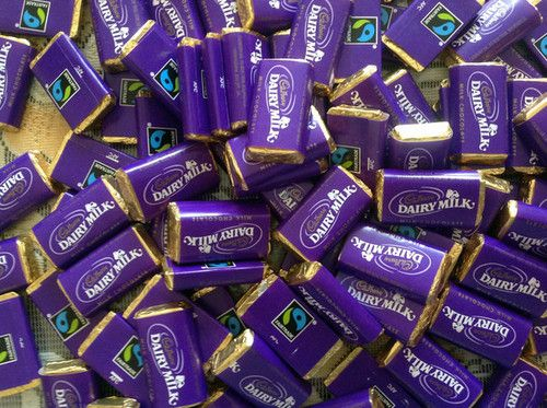 100 x Cadburys Dairy Milk Miniatures sweets mini chocolate bars wedding gift etc   eBay
