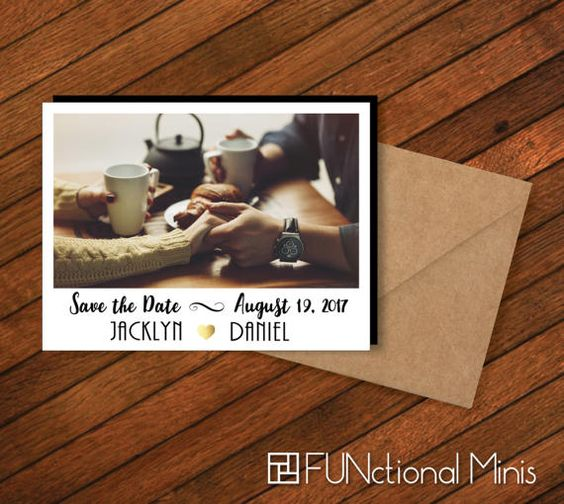 Save the Date Photo Magnets  Wedding Save the by FUNctionalMinis