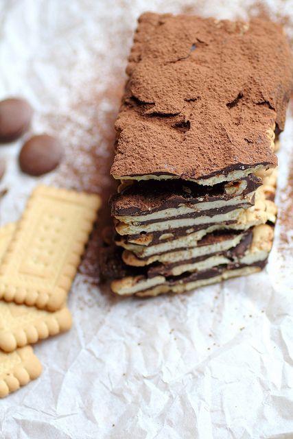 chocolate cookie log
