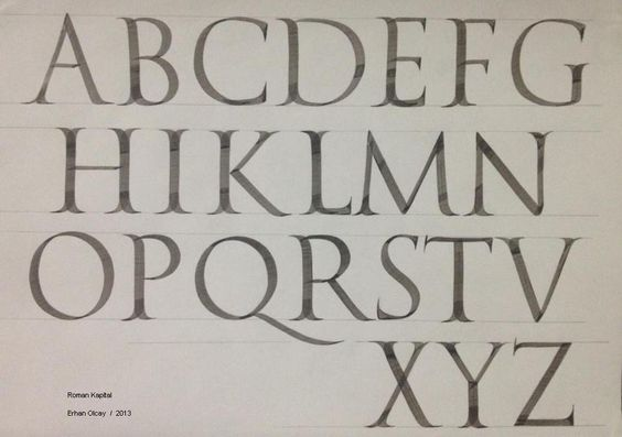 Roman capital kaligrafi calligraphy pinterest