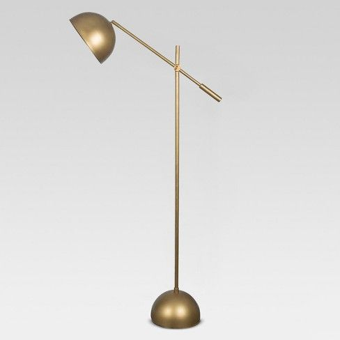 Metal Dome Task Floor Lamp Includes Energy Efficient Light Bulb
