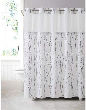 Home Hookless Shower Curtain Shower Curtains Walmart Curtains