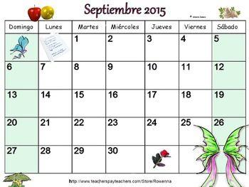 Calendario de celebraciones en Septiembre 2015