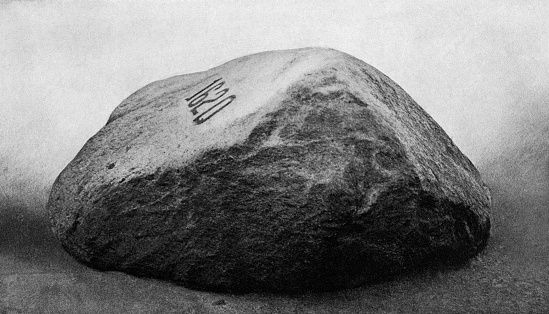 SIDE VIEW OF PLYMOUTH ROCK...
