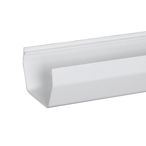 Amerimax Contemporary 4 In X 120 In White Half Round Gutter Lowes Com Vinyl Gutter Contemporary Gutter
