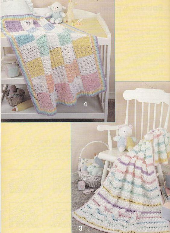 Rainbow Baby Afghan Crochet Patterns 6 Designs | Crochet | Pinterest ...